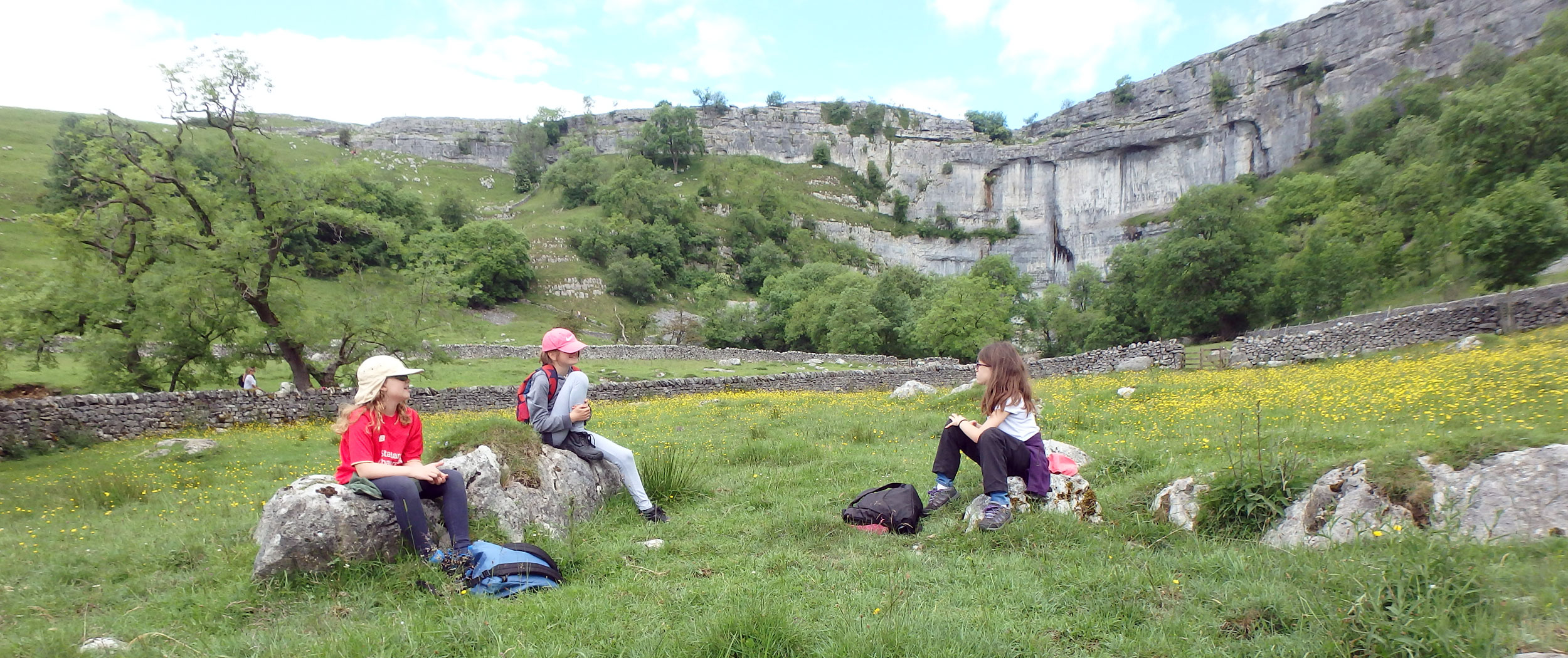Girls at Malham Cove