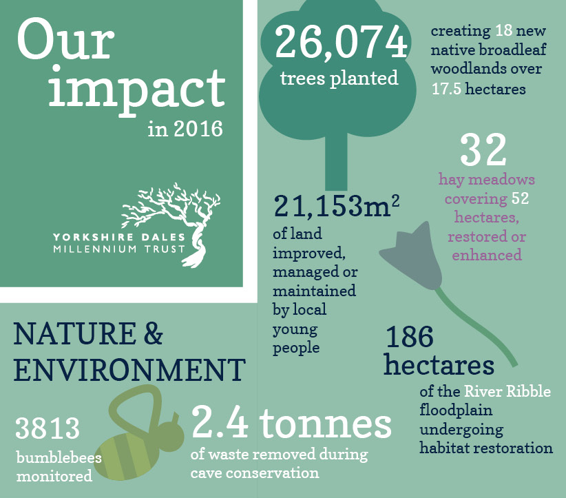 The impact of our charitable work on the environment and nature in 2016