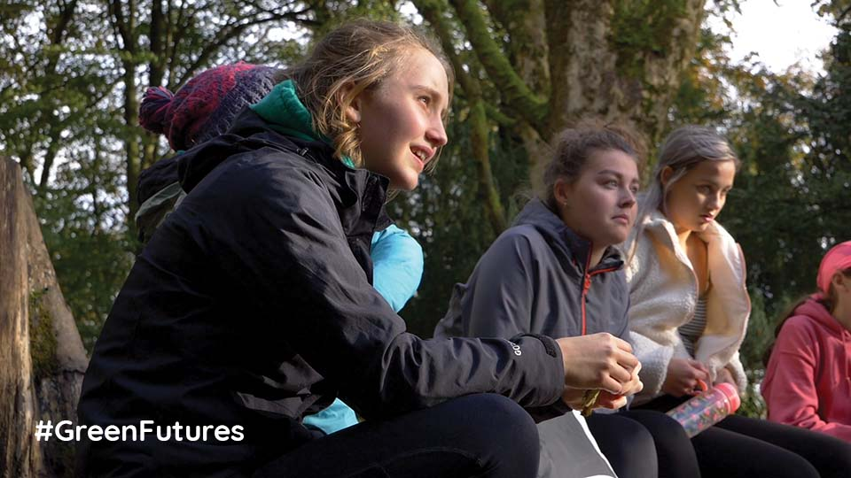 Young people woodlands Yorkshire Dales