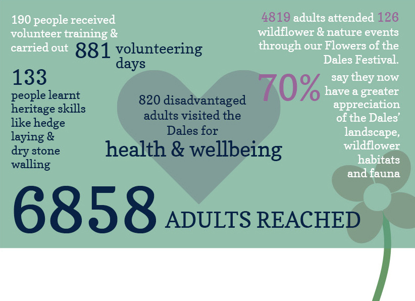 The impact of our charitable work on adults in 2016