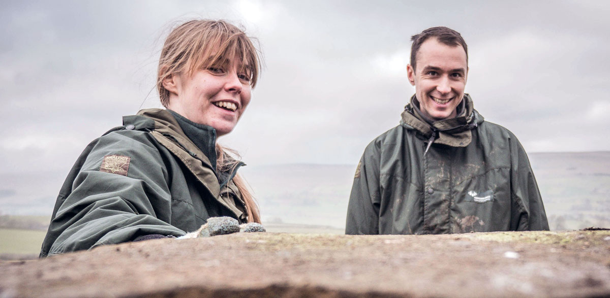 Suzannah Barningham and James Firth, new Yorkshire Dales National Park Authority Access Rangers