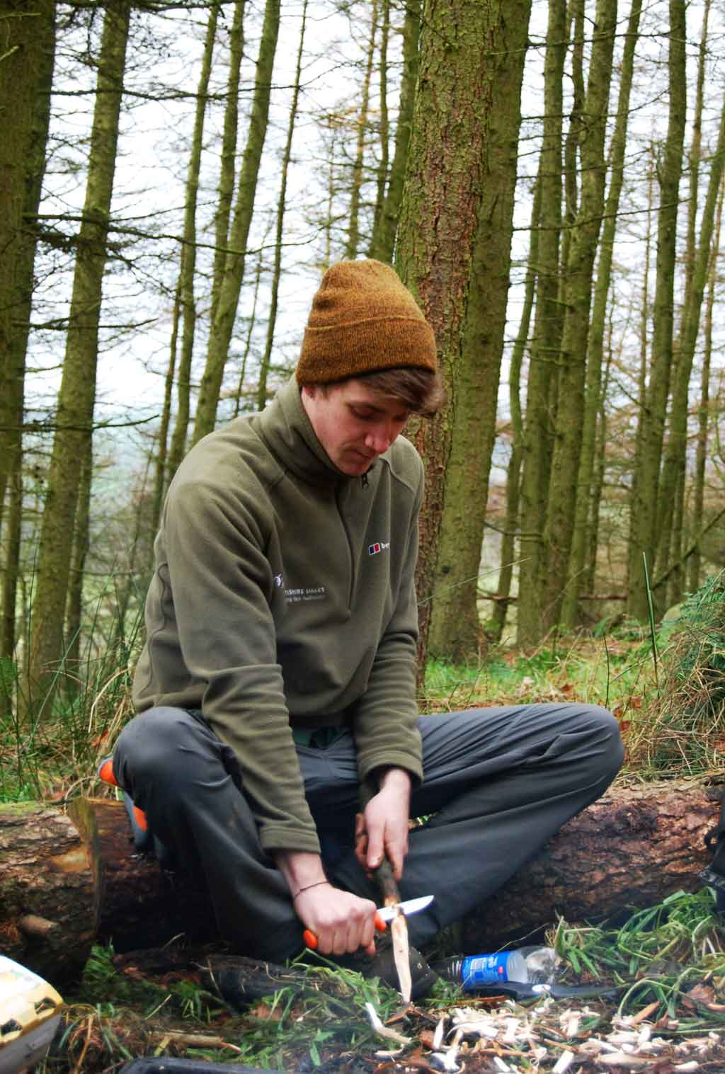 Environmental apprentices learn woodland skills