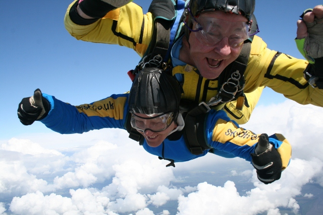 Sky diving for the Yorkshire Dales!